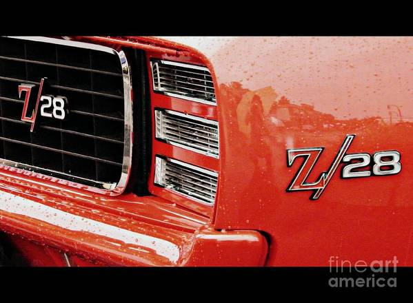 Classic Car Poster featuring the photograph Z28 by Emily Kelley