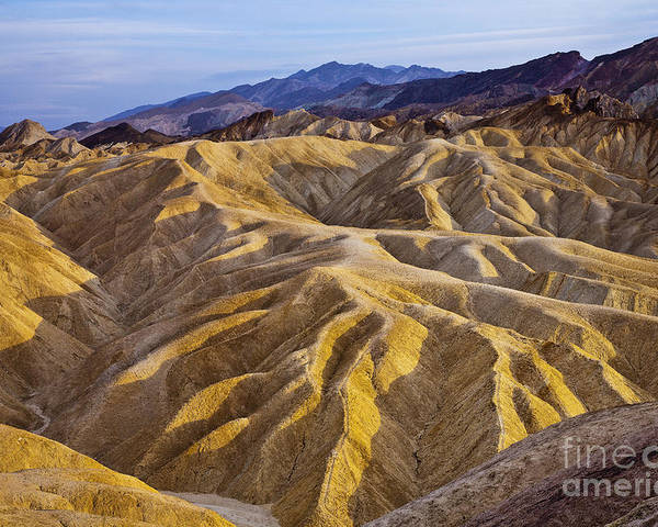 California Poster featuring the photograph Zabriskie Badlands by Greg Clure