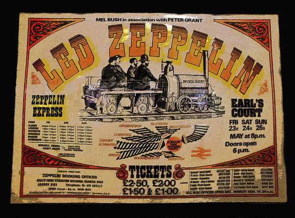 Art Poster featuring the painting Zeppelin Express by David Lee Thompson