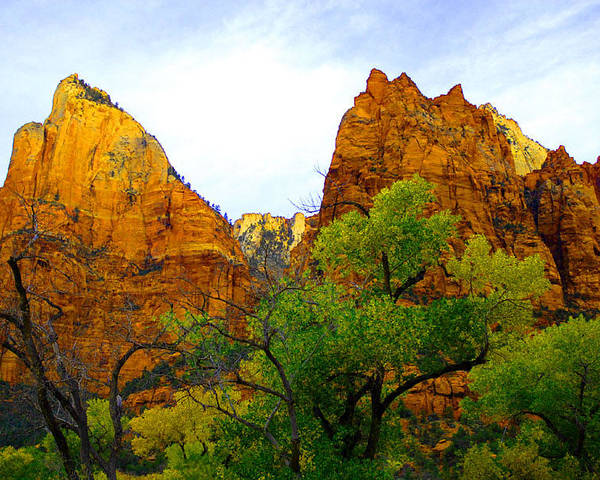 Utah Poster featuring the photograph Zion In Autumn by Dennis Hammer