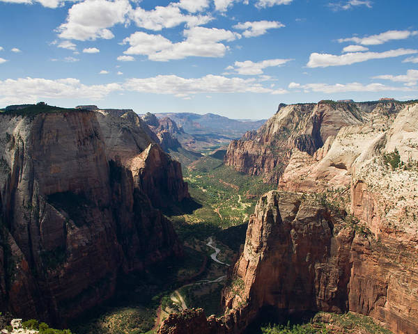 Zion National Park Poster featuring the photograph Zion Valley From Observation Point - Color by Steven Wilson