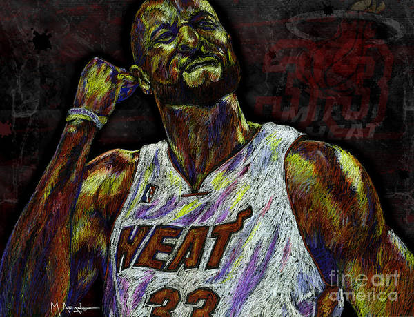 Alonzo Mourning Poster featuring the drawing Zo by Maria Arango