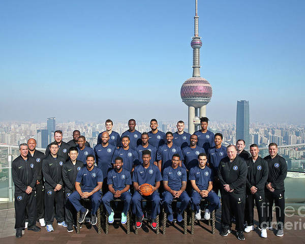 Event Poster featuring the photograph 2017 Nba Global Games - China by David Sherman