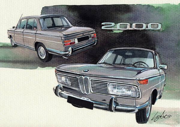 Bmw Poster featuring the painting Bmw 2000 by Yoshiharu Miyakawa