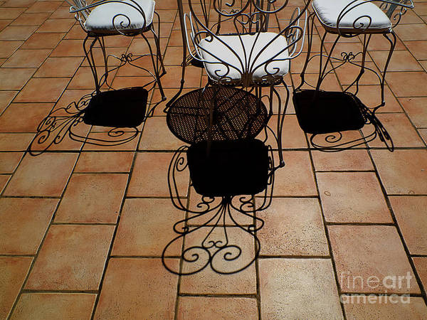 Chairs Poster featuring the photograph Chairs And Shadows by Mike Nellums