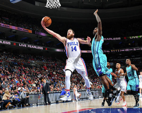 Nba Pro Basketball Poster featuring the photograph Charlotte Hornets V Philadelphia 76ers by Jesse D. Garrabrant