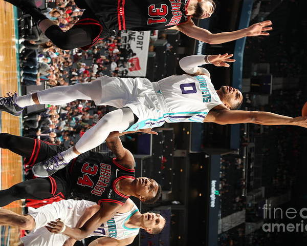 Chicago Bulls Poster featuring the photograph Chicago Bulls V Charlotte Hornets by Kent Smith
