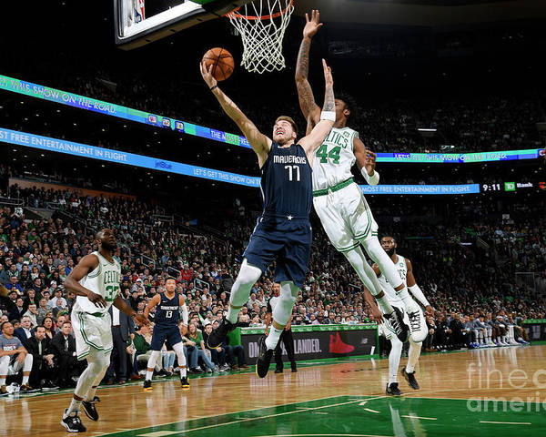Nba Pro Basketball Poster featuring the photograph Dallas Mavericks V Boston Celtics by Brian Babineau