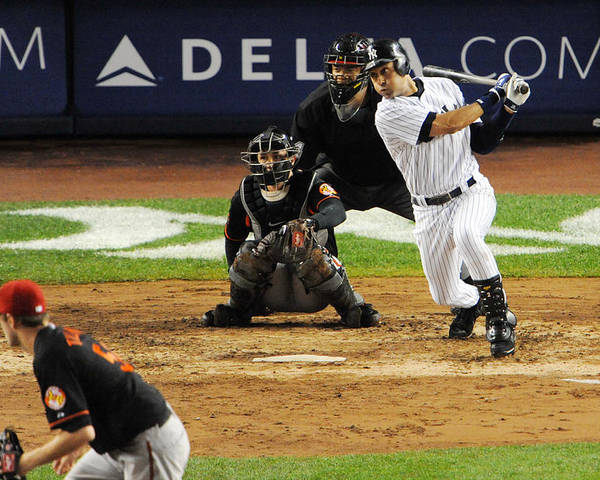 American League Baseball Poster featuring the photograph Derek Jeter 1 by New York Daily News