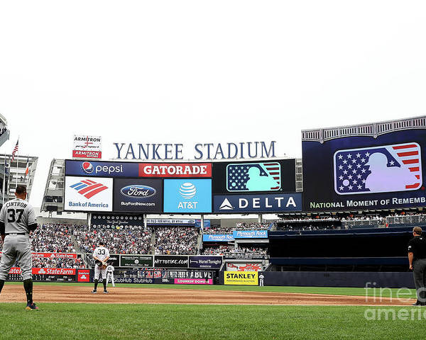 American League Baseball Poster featuring the photograph Houston Astros V New York Yankees by Elsa