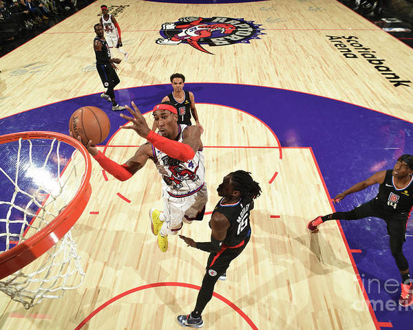 Nba Pro Basketball Poster featuring the photograph La Clippers V Toronto Raptors by Ron Turenne
