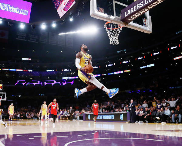 Nba Pro Basketball Poster featuring the photograph Lebron James by Chris Elise
