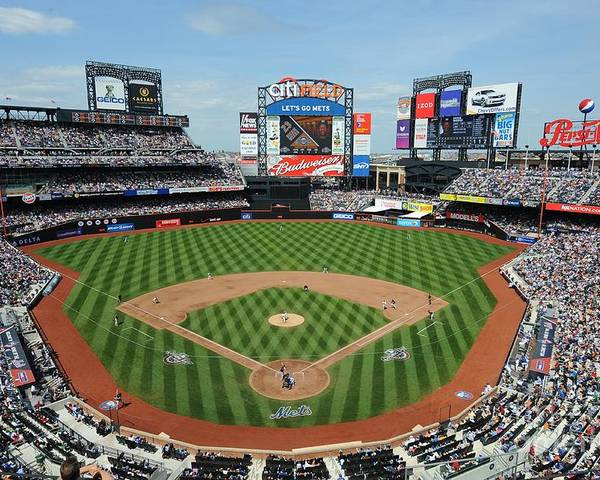 Citi Field Poster featuring the photograph Milwaukee Brewers V New York Mets by Rich Pilling