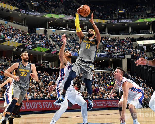 Nba Pro Basketball Poster featuring the photograph Philadelphia 76ers V Memphis Grizzlies by Jesse D. Garrabrant