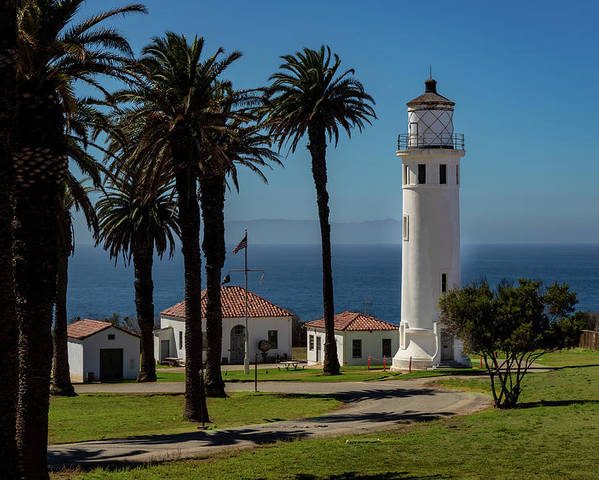 Architecture Poster featuring the photograph Point Vicente Lighthouse by Ed Clark