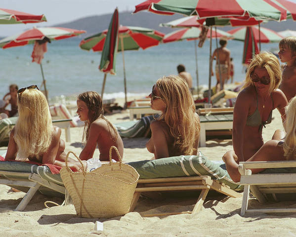 Child Poster featuring the photograph Saint-tropez Beach by Slim Aarons