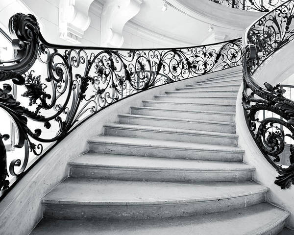 Steps Poster featuring the photograph Staircase In Paris by Nikada