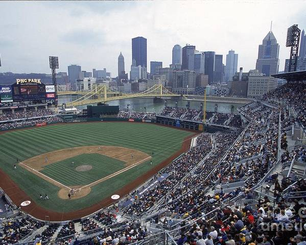Pnc Park Poster featuring the photograph View Of Stadium by Jamie Squire