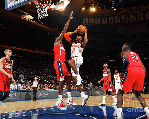 Nba Pro Basketball Poster featuring the photograph Washington Wizards V New York Knicks by Jesse D. Garrabrant