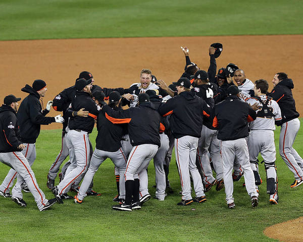 American League Baseball Poster featuring the photograph World Series - San Francisco Giants V by Christian Petersen