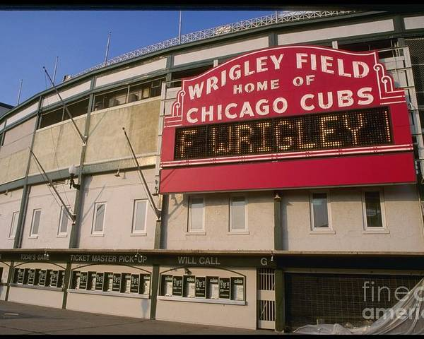 National League Baseball Poster featuring the photograph Wrigley Field by Jonathan Daniel