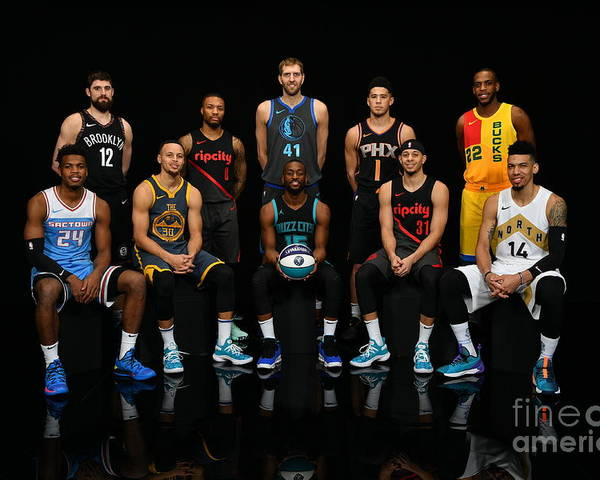 Kemba Walker Poster featuring the photograph 2019 Nba All Star Portraits by Jesse D. Garrabrant