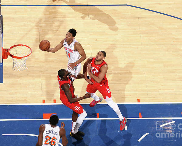 Nba Pro Basketball Poster featuring the photograph Houston Rockets V New York Knicks by Nathaniel S. Butler