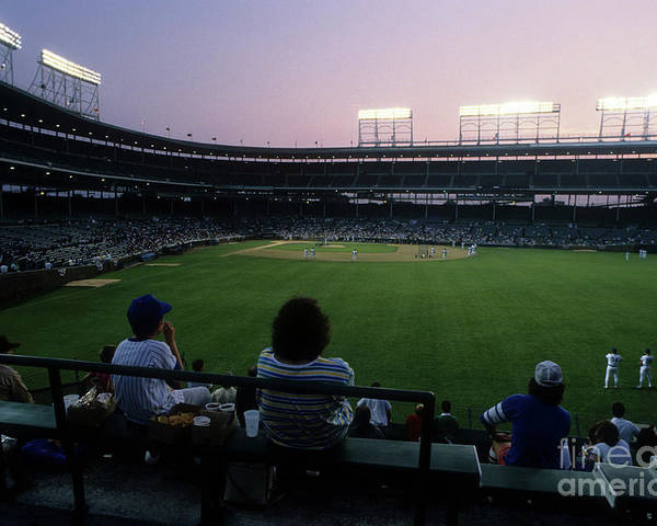 1980-1989 Poster featuring the photograph Philadelphia Phillies V Chicago Cubs by Jonathan Daniel