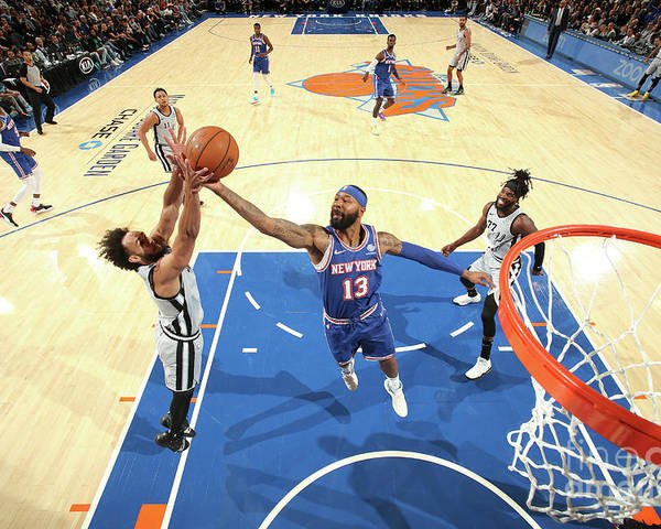 Nba Pro Basketball Poster featuring the photograph San Antonio Spurs V New York Knicks by Nathaniel S. Butler