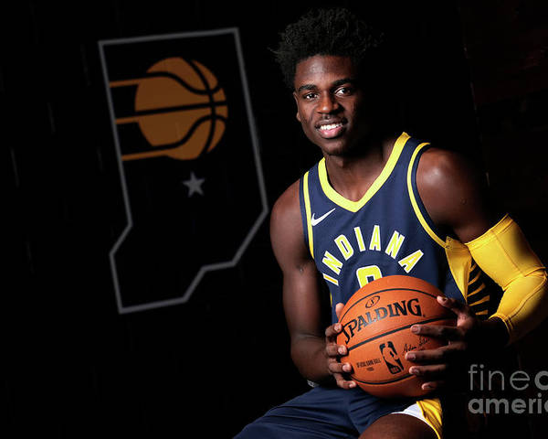 Media Day Poster featuring the photograph 2018-19 Indiana Pacers Media Day by Ron Hoskins