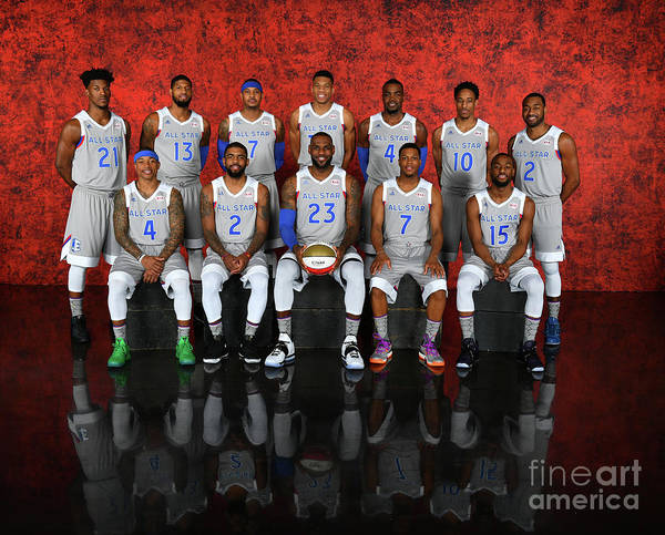 Event Poster featuring the photograph Nba All-star Portraits 2017 by Jesse D. Garrabrant