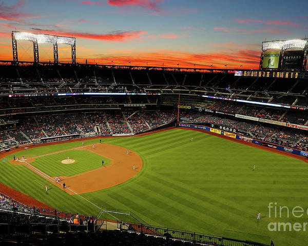 Residential District Poster featuring the photograph Washington Nationals V New York Mets by Jim Mcisaac