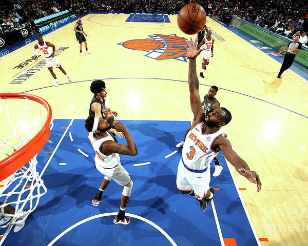 Tim Hardaway Jr. Poster featuring the photograph Brooklyn Nets V New York Knicks by Nathaniel S. Butler