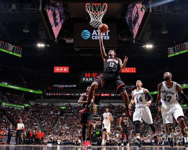 Playoffs Poster featuring the photograph Houston Rockets V San Antonio Spurs - by Jesse D. Garrabrant