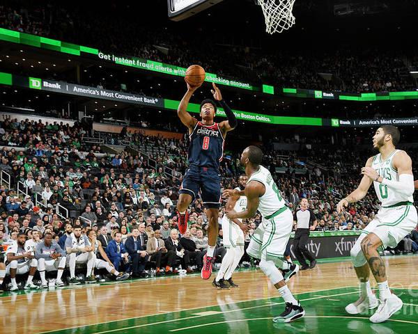 Nba Pro Basketball Poster featuring the photograph Washington Wizards V Boston Celtics by Brian Babineau