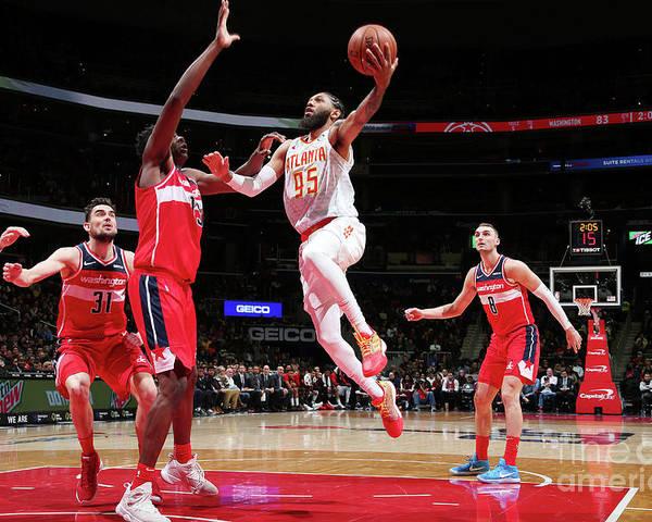 Nba Pro Basketball Poster featuring the photograph Atlanta Hawks V Washington Wizards by Ned Dishman