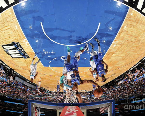Nba Pro Basketball Poster featuring the photograph Charlotte Hornets V Orlando Magic by Fernando Medina