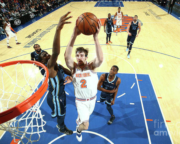 Nba Pro Basketball Poster featuring the photograph Memphis Grizzlies V New York Knicks by Nathaniel S. Butler
