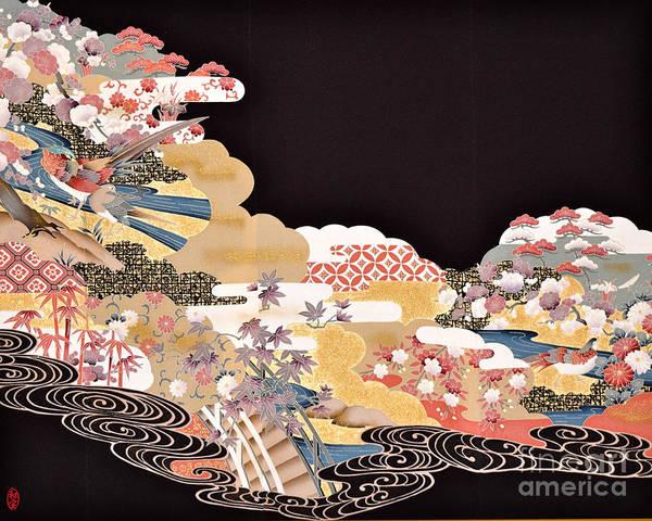 Poster featuring the digital art Spirit of Japan T65 by Miho Kanamori