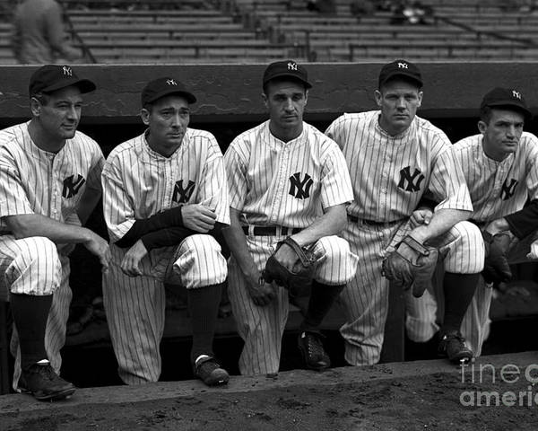 People Poster featuring the photograph 1937 World Series - New York Giants V 1937 by Kidwiler Collection