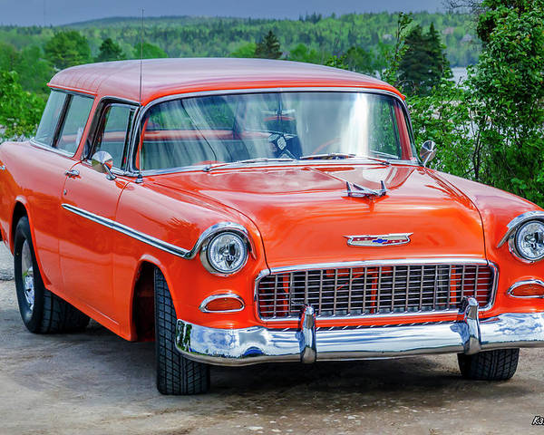 1955 Poster featuring the photograph 1955 Chevrolet Bel Air Nomad by Ken Morris