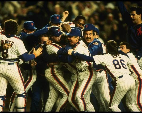 1980-1989 Poster featuring the photograph 1986 World Series Mets by T.g. Higgins