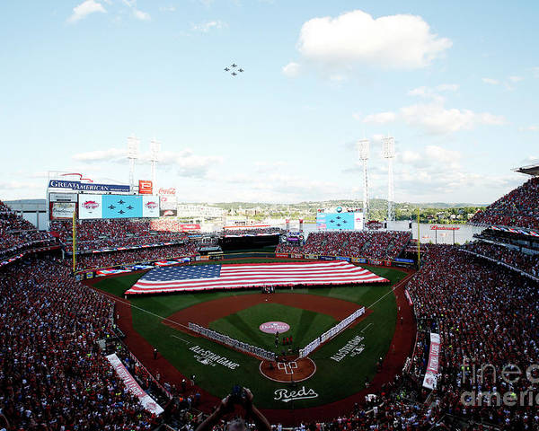 Great American Ball Park Poster featuring the photograph 86th Mlb All-star Game by Joe Robbins