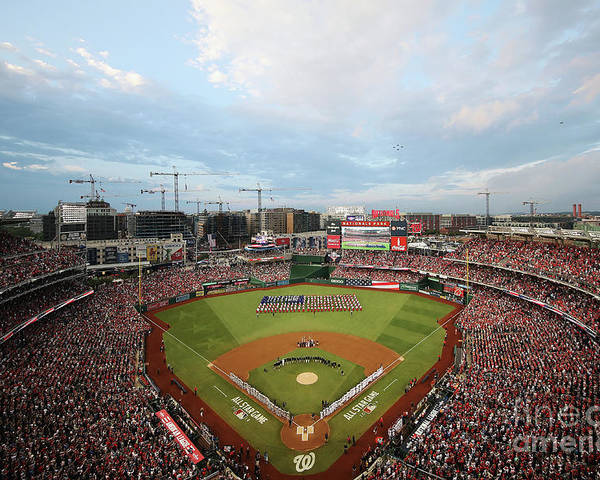 American League Baseball Poster featuring the photograph 89th Mlb All-star Game, Presented By by Win Mcnamee