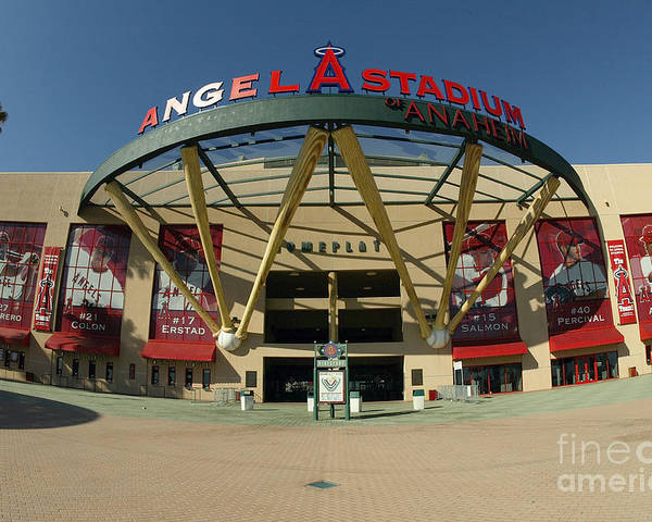 American League Baseball Poster featuring the photograph Angel Stadium Of Anaheim by Doug Benc