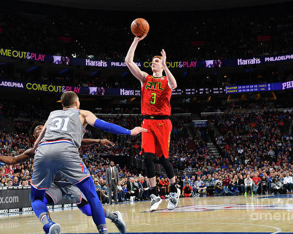 Nba Pro Basketball Poster featuring the photograph Atlanta Hawks V Philadelphia 76ers by Jesse D. Garrabrant