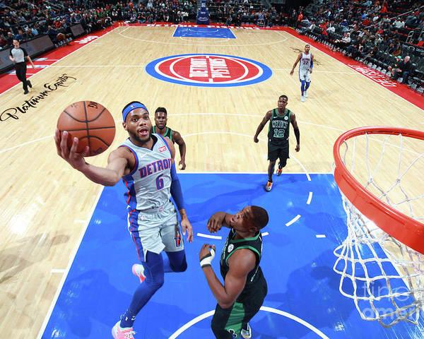 Nba Pro Basketball Poster featuring the photograph Boston Celtics V Detroit Pistons by Brian Sevald