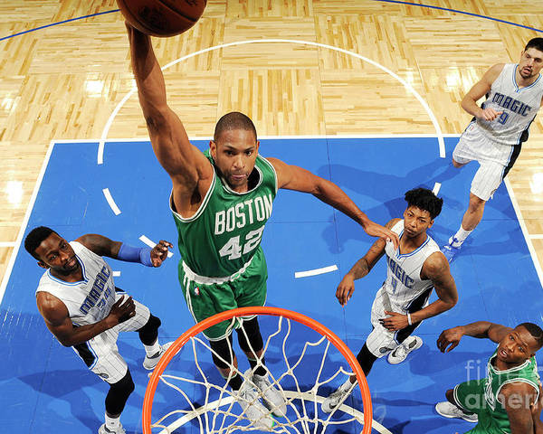 Nba Pro Basketball Poster featuring the photograph Boston Celtics V Orlando Magic 2 by Fernando Medina