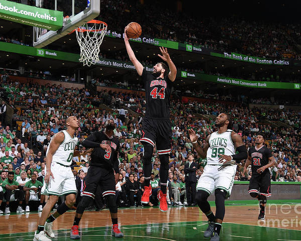 Playoffs Poster featuring the photograph Chicago Bulls V Boston Celtics - Game by Brian Babineau