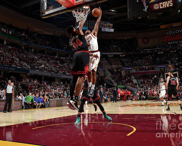 Nba Pro Basketball Poster featuring the photograph Chicago Bulls V Cleveland Cavaliers by David Liam Kyle
